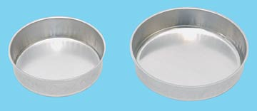 smooth sided disposable aluminum mixing dish