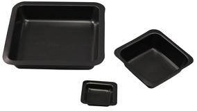 antistatic weigh dishes, black