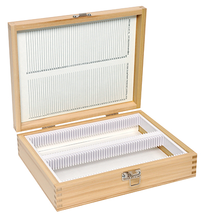 Wooden Slide Storage Boxes for Large Microscope