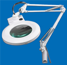 magnifier lamp clamps on table