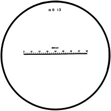 Measuring Magnifiers with Reticles, Metric and Inch Scales