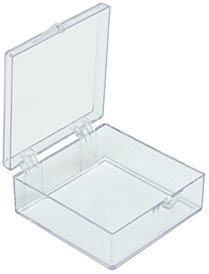 Clear plastic box