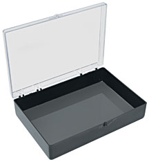 Medium 6x4 Plastic Box With Black Bottom