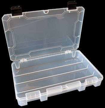 SE 26 Compartment Plastic Storage Box with Adjustable Sections Pack of 2