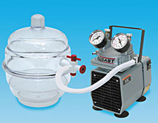 Airp-Out Vacuum System with glass Vacuum Desiccator and Vacuum Pump