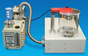 Premium Dual Stage Rotary Vane Vacuum Pump Connected To A Cressington Coater