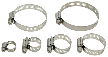 hose cl&s for vacuum hose stainless steel  sc 1 st  Ted Pella & NW/KF Hose Adapters Hose Clamps and Vacuum Hoses