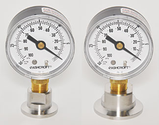 Analog Vacuum Gauge With NW KF Flange Adapters